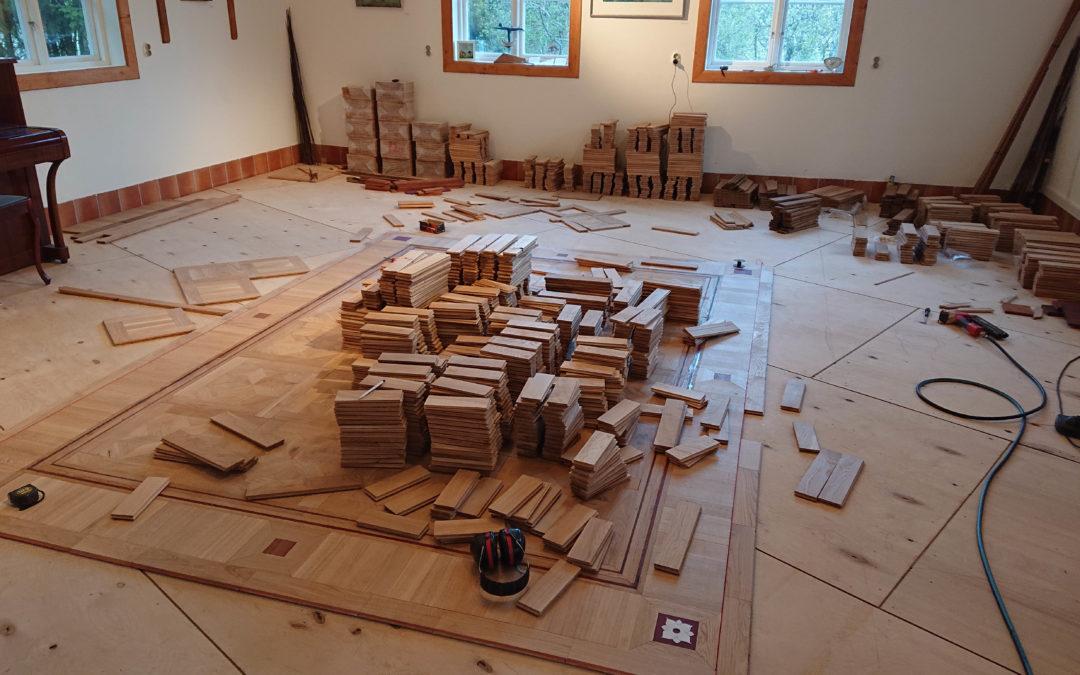 Nytt golv i studion!