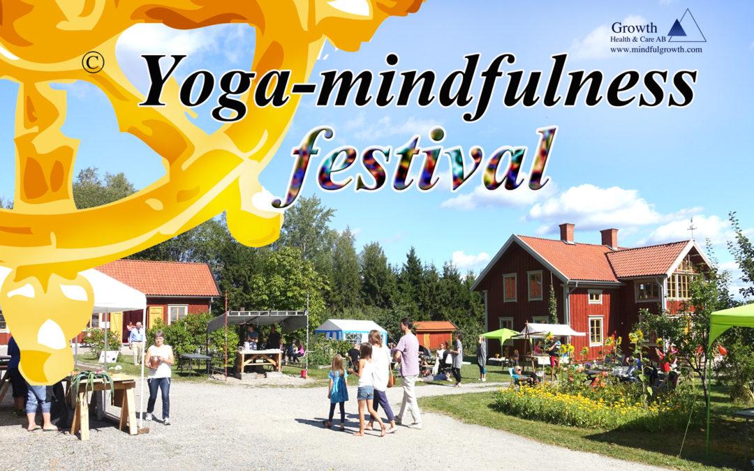 31/8 och 1/9 är det dags för årets Yoga-mindfulness festival, nu på 7:e året!